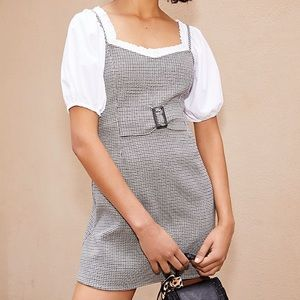 Free People My Girl Houndstooth Dress